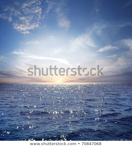 Panoramic view of a sky above ocean before storm Stock photo © konradbak