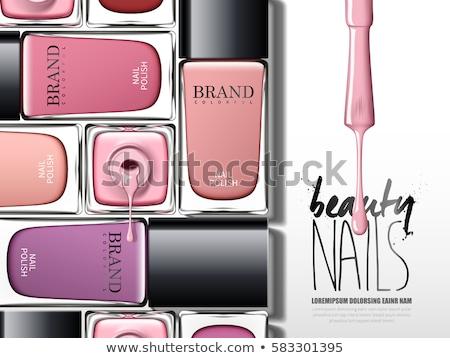 nail polish and brush  Stock photo © OleksandrO