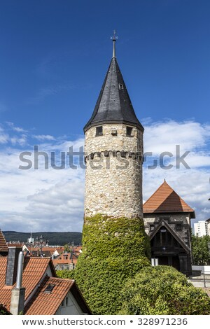 ворот · башни · плохо · Германия · город · стены - Сток-фото © meinzahn