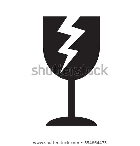 хрупкий икона символ иллюстрация дизайна стекла Сток-фото © kiddaikiddee