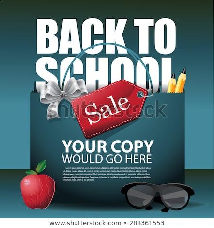 escolas · venda · etiqueta · cartão · eps · 10 - foto stock © beholdereye