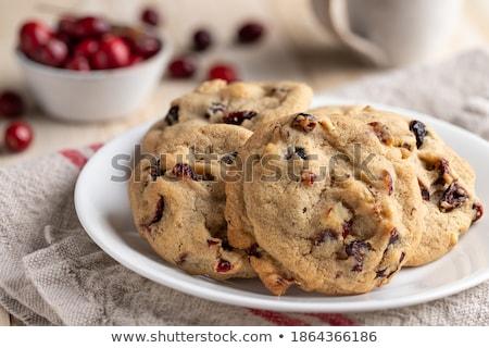 Ceviz kurabiye tereyağı krem gıda Stok fotoğraf © Digifoodstock