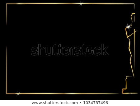 the gold vector statuette background stock photo © sdmix