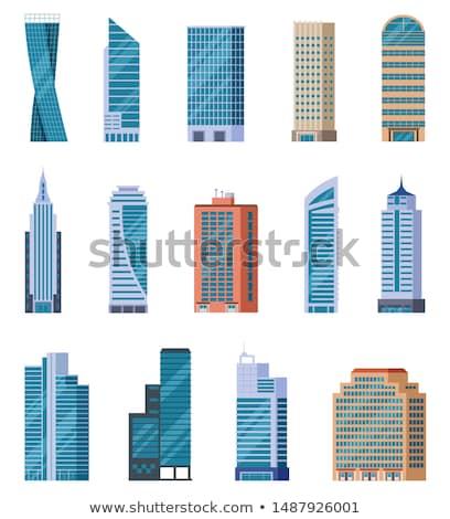 Belváros építészet felhőkarcolók Frankfurt Stock fotó © meinzahn