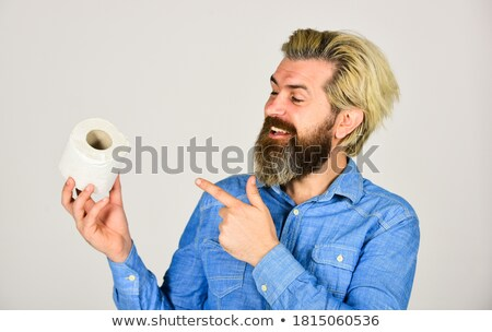 youn man in the toilet Stock photo © nito