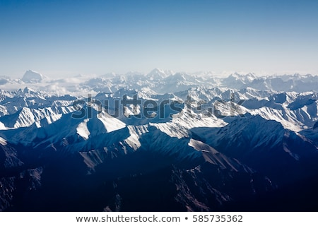 view from the aircraft to the mountains of the Himalaya Stock photo © meinzahn