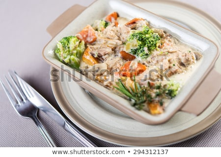 Raw chicken and vegetables in a casserole dish  Stock photo © Digifoodstock