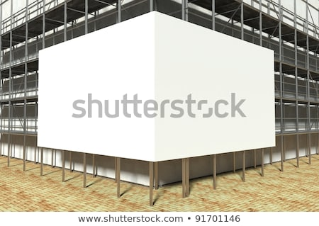 Andamio edificio esquina casa madera Foto stock © simply