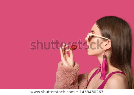 женщины · клубника · портрет · красивой - Сток-фото © Anna_Om