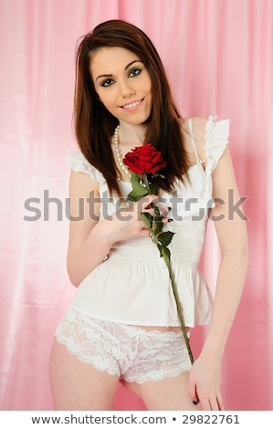 Knickers With Red Rose Stock photo © Bigalbaloo