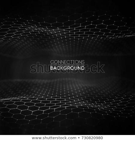 Abstrato preto tecnologia curvas moderno ilustração Foto stock © derocz