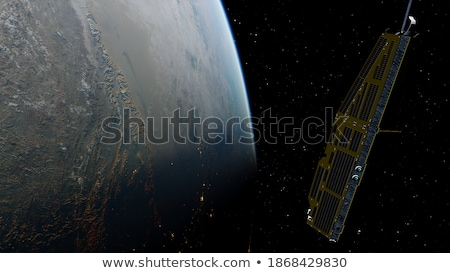 A satellite in the outerspace Stock photo © bluering