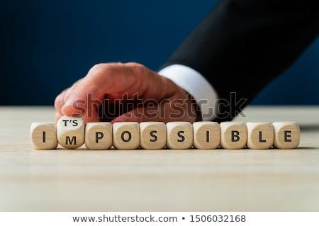 Impossibile parola scuola bordo sfondo istruzione Foto d'archivio © fuzzbones0