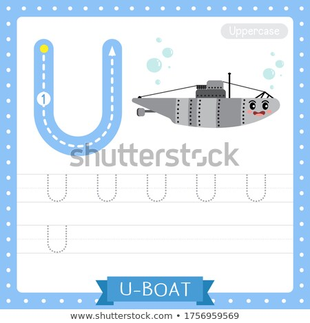 Flashcard alphabet U is for upper case Stock photo © bluering