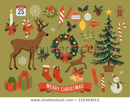 Festive background featuring christmas garland Stock photo © ozgur