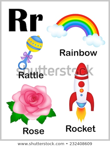 Flashcard letter R is for rattle Stock photo © bluering