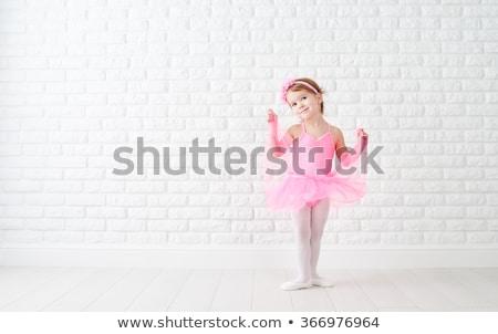 Foto stock: Little · girl · balé · vestir · retrato · bonitinho