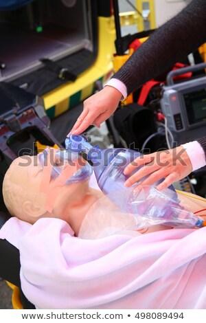 zuurstofmasker · leraar · studenten · meisje · kinderen - stockfoto © vladacanon