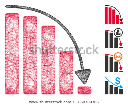 falling stats abstract icon stock photo © cidepix
