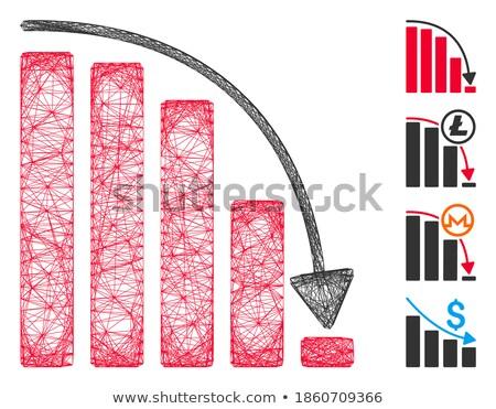 statisztika · ikonok · színes · absztrakt · zöld · bár - stock fotó © cidepix