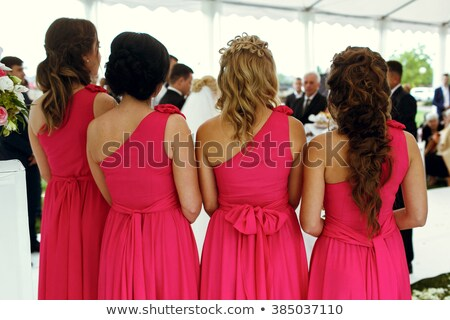 Lila ruhák esküvő kezek kéz divat Stock fotó © Victoria_Andreas