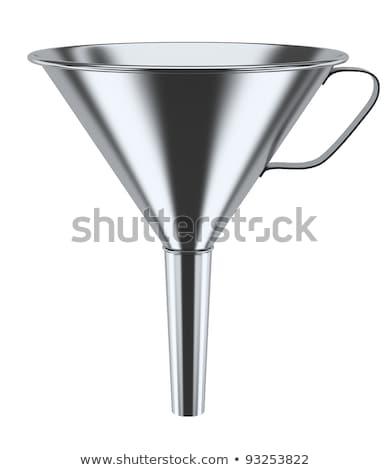 Steel funnel. 3D Stock photo © djmilic