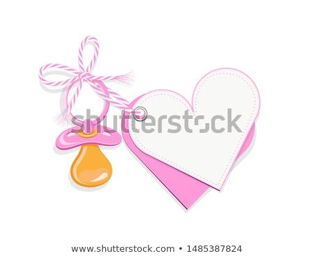 Pacyfikator puste karty różowy papieru relaks zabawki Zdjęcia stock © jirkaejc
