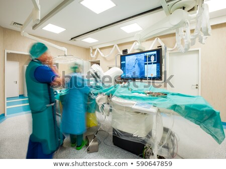 Laparoscopic surgery monitor heart hospital Stock photo © vilevi