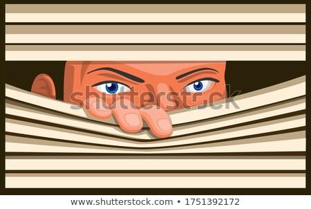 sight of woman through jalousie Stock photo © ssuaphoto