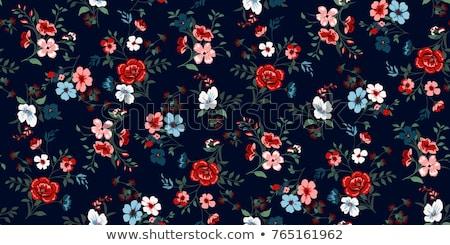 virágmintás · minta · 70-es · évek · stílus · háttér · tapéta - stock fotó © cundm