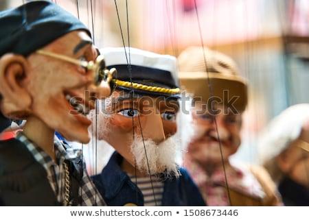 Marionett stúdió portré fiatal nő lány arc Stock fotó © val_th