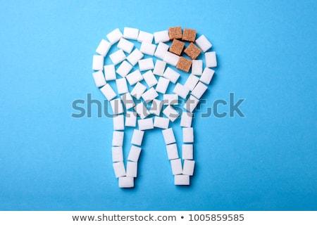 zucchero · cubo · isolato · bianco - foto d'archivio © lightsource