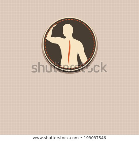 Human back, vertebral column health care vintage design. Stock photo © Tefi
