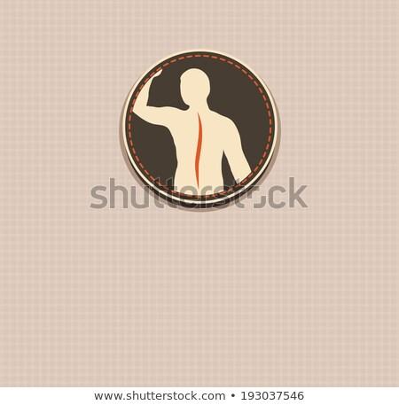 Human back, vertebral column health care vintage design. Stock photo © Tefi