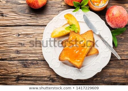 アプリコット ジャム 朝食 新鮮な 自家製 フルーツ ストックフォト © drobacphoto