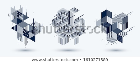 Set Of Abstract LowPoly Banners Stock photo © olgaaltunina