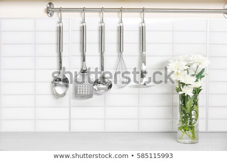 Konyha szoba különböző szerszámok illusztráció háttér Stock fotó © bluering