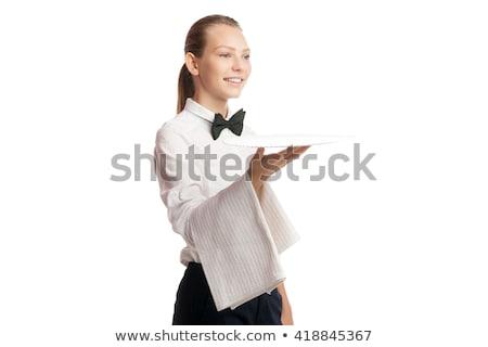 elegante · jonge · vrouw · witte · meisje - stockfoto © julenochek