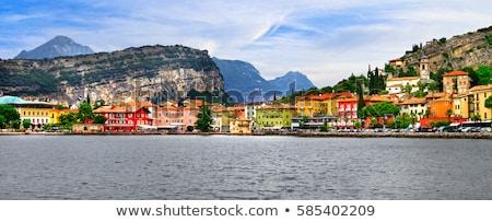 Alpine scenery - beautiful lake Lago di Garda and village Torbole. Stock photo © Freesurf