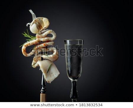 Sel ail traditionnel cuisine grasse fraîches Photo stock © yelenayemchuk