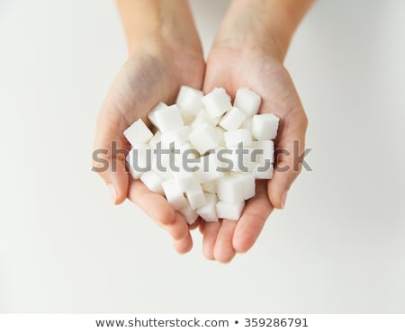 Beyaz şeker kadın eller gıda Stok fotoğraf © dolgachov