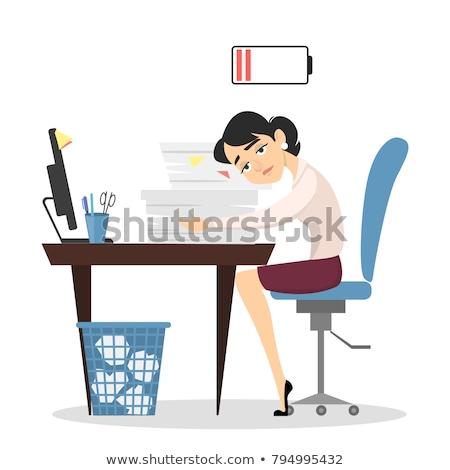 Chorych cartoon kobieta spuchnięty Zdjęcia stock © blamb