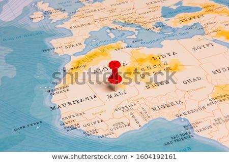 Мали красный мира карта 3d иллюстрации путешествия Сток-фото © Harlekino