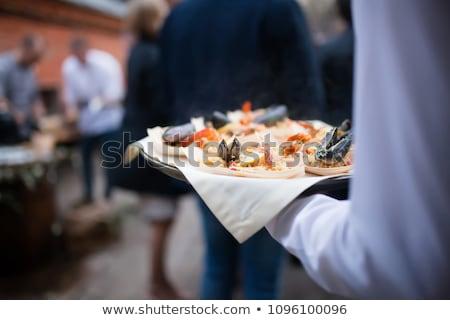 tengeri · hal · főzés · folyamat · tintahal · étel · terv - stock fotó © lunamarina