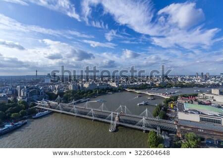 Altın köprü nehir thames gökyüzü şehir Stok fotoğraf © chrisukphoto