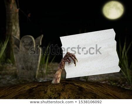 Zombi canavar halloween el Stok fotoğraf © Krisdog