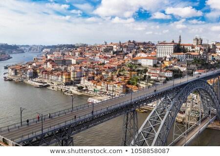 橋 · 日没 · ポルトガル · 表示 · リスボン · 水 - ストックフォト © benkrut