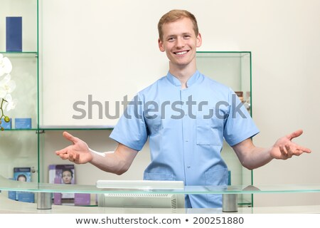 Portrait of a male receptionist Stock photo © IS2