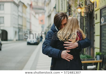 Couple hugging in street Stock photo © IS2
