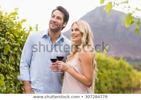 couple looking at vines stock photo © is2